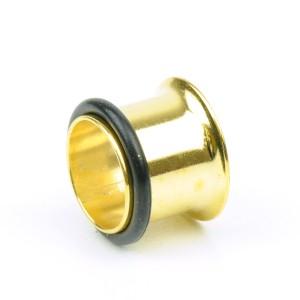 【メール便 送料無料】シングルフレア ゴールド 12mm(5/32インチ) ハーフフレア Anodized GOLD【ボディピアス/ボディーピアス】 ┃