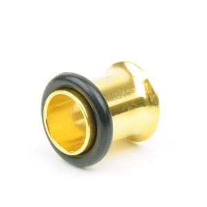 【メール便 送料無料】ボディピアス ハーフフレア ゴールド 0GA(8mm) Anodized GOLD ボディーピアス ┃