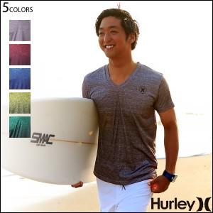 Hurley ハーレー ラッシュガード メンズ 半袖 Vネック サーフTee UVカット ロゴ RASH V-TEE UPF50