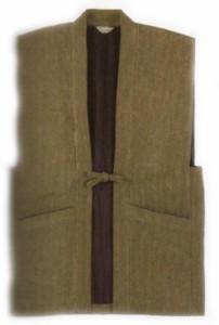 送料無料/作務衣/男物/メンズ/日本製 綿 刺子織 羽織/2種類