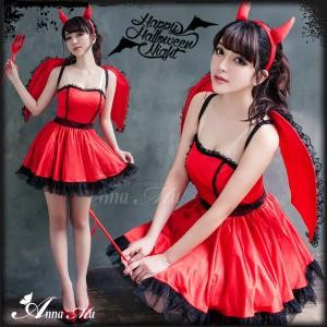 魔女 コスプレ デビル 悪魔 魔女 小悪魔 ハロウィン コスプレ衣装 コスチューム セクシー 仮装 大人 ペア