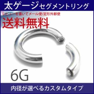 [1,000円ポッキリSALE] ボディピアス スムースセグメントリング/6G ボディーピアス