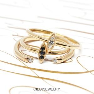 縦ライン CZダイヤ Ring K18仕上げ リング 送料無料 / K18GP 指輪 レディース アクセ・ジュエリーm_a sale