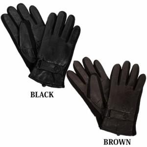 送料無料 手袋 メンズ てぶくろ レザー 革 羊革 レザー グローブ てぶくろ ブラック 黒 アメカジ系 サロン系 キレカジ系 通勤 通学