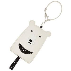 ◆ラッピングサービス♪ フィールドワーク【パスケース付きハングウォッチ クマ】ホワイト LW043-1