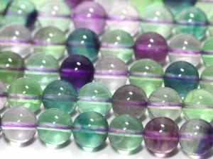 天然石 ビーズ【丸ビーズ】フローライト(3A) 8mm (半連 ブレスレット約1本分) パワーストーン