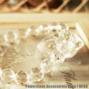 あらゆる幸運を呼ぶ・厄除け・開運   多面カット10mm水晶パワーストーンブレスレット 天然石