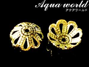 アクセサリーキャップ菊型座金【ゴールド】 6ミリ 10個セット