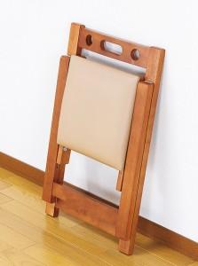 天然木折りたたみチェア 完成品 木製 コンパクト