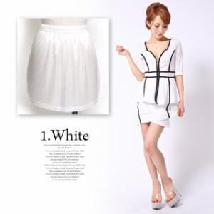 白いドレス・ワンピも安心♪透け防止!!インナーペチスカート 下着 ペチコート インナー サンタ コスプレ 小物 ホワイト ベージュ