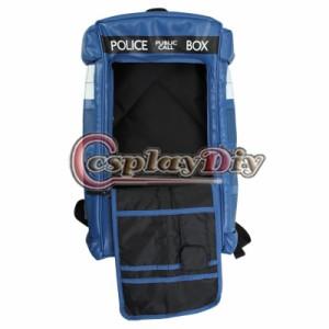 高品質 高級コスプレ ドクター・フー 風 バッグ 鞄 バック Doctor Who Cosplay TARDIS Backpack Fashion Unisex Police Box PU