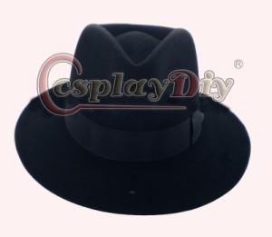 高品質 高級コスプレ マイケル ジャクソン 風 帽子 ぼうし ハット Michael Jackson Fedora Hat Black and White Wool Fabric Felt Cap