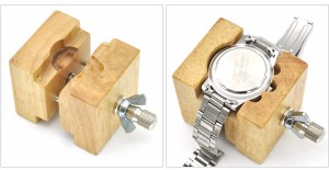 腕時計用裏ブタはずし*木製保持器*時計工具