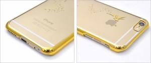 iPhone6/iPhone6S 妖精タイプ リンゴマークアートケース(透明ハードケース) アイフォン6/6S用 透明保護ケース スマホケース
