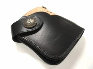 Indianインディアンモトサイクル 本革レザー 2つ折ウオレット財布 IMW−072