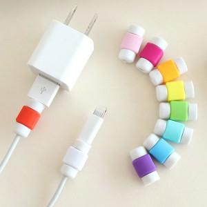 DM便送料無料 Lightningケーブル 保護 プロテクター 断線防止 アップル製品ケーブル用 コネクタ保護キャップ
