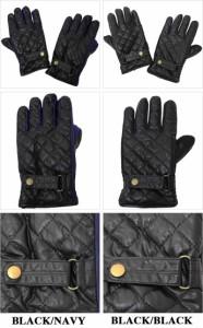 400円OFFクーポン タッチパネル対応 手袋 メンズ ベルト付きキルティング合皮カラースパンマチ 全国送料無料 ネコポス発送限定