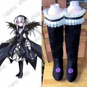 ローゼンメイデン   水銀燈(すいぎんとう)  風 ブーツ、靴★ コスプレ道具/小物 *D412