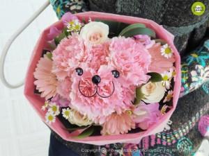 ハナクマ・ブーケ/男性注目!女性に人気☆あなたの愛を伝えます!可愛いクマちゃんの花束♪