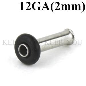 【メール便 送料無料】シングルフレア 12GA(2mm) ハーフフレア サージカルステンレス【ボディピアス/ボディーピアス】 ┃