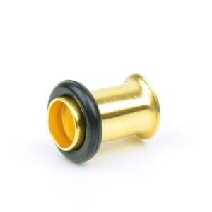 【メール便 送料無料】ボディピアス ハーフフレア ゴールド 2GA(6mm) Anodized GOLD ボディーピアス ┃