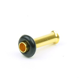 【メール便 送料無料】ハーフフレア ゴールド 10GA(2.5mm)シングルフレア Anodized GOLD【ボディピアス/ボディーピアス】 ┃