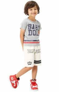 【さらに20%OFF】アウトレットSALE50%OFF★親子ペア★ナンバーTシャツ-ベビーサイズ キッズ ベビードール 子供服-7870K【150cmあり】