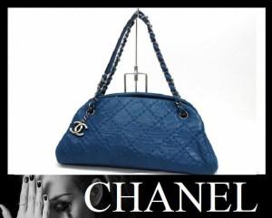 あす着 CHANEL シャネル マドモアゼル カーフスキン チェーンショルダーバッグ ブルー ギフト プレゼント レディース