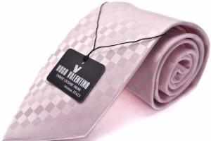 【礼装ネクタイ】【HUGO VALENTINO】ネクタイ 結婚式 パーティ 披露宴 フォーマル ピンク ブランド