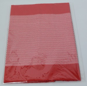 フィリピン Rowilda's 手織り ランチョンマット 2枚組 レッド