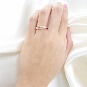 刻印無料 2個セット ダイヤモンド ペアリング マリッジリング 結婚指輪 メンズ&レディース スターリングシルバー 95-2037-2036
