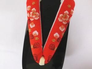 振袖成人式&卒業式袴・着物に 舞妓気分のこっぽり(ぽっくり)下駄牡丹彫朱赤鼻緒