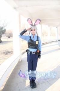 ディズニー ズートピア ZOOTOPIA ジュディホップス Judy 風 映画Ver. ハロウィン コスチューム コスプレ衣装