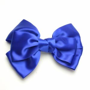 リボンヘアクリップ カラーリボン デカリボン 髪留め p30-gk154