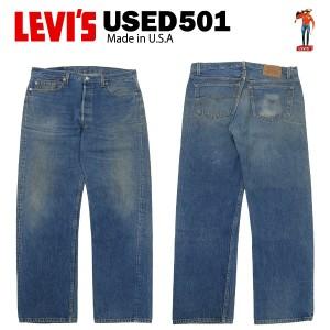 [送料無料] USED Levis 501 レギュラー W38×L30 (実寸W92cm×L75cm) MADE IN USA [リーバイス 00501]
