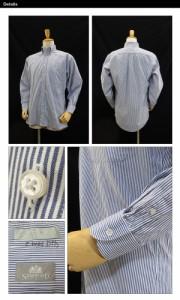 USED ボタンダウン L/S シャツ ブルーストライプ/16 (35) サイズ (長袖シャツ)