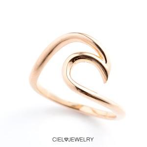 オーシャンビュー波 リング K18仕上げ ring 送料無料 K18GP 海 指輪 レディース アクセ・ジュエリー sm sale