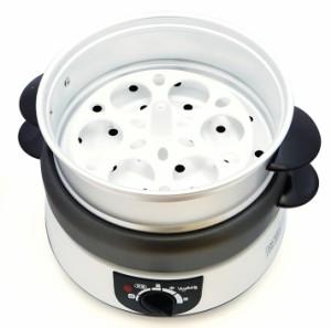 1台5役の電気グリル鍋 1〜2人用ベジタブル 電気小鍋セット GD-M55 ホットプレート 蒸し器 焼肉 鍋