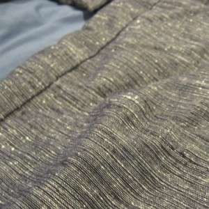 はんてん/ポンチョ 手造り綿入ポンチョ 『雪紬』 紬織り (紳士/婦人用) #880 半纏/袢纏/ベスト/わた入
