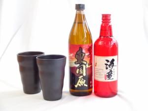 【送料無料】酒器セット(芋焼酎720ml2本セット海童、東国原)