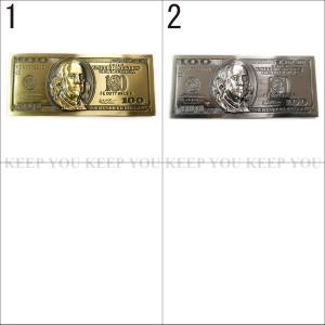 【メール便 送料無料】ベルト バックル ドル紙幣 ゴールドorシルバーカラー buc-00104 【BELT BUCKLE】 ┃