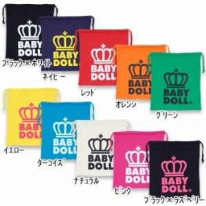 NEW♪王冠ロゴキンチャク(Lサイズ)-巾着袋 きんちゃく 雑貨 キッズ ベビーサイズ レディース ベビードール 子供服-7589