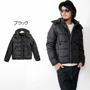 【6カラー】ウールタッチ中綿ダウンジャケット メンズ 中綿ブルゾン スクエア中綿  84549