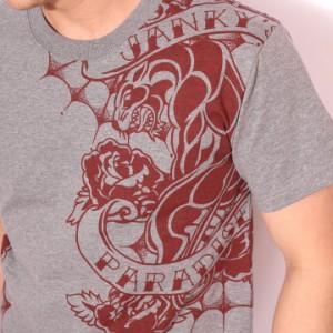 在庫限りセール SALE 50%off ジャンキーズパラダイス ローズパンサー プリント 半袖Tシャツ(JST-603)ご奉仕品の為返品交換不可