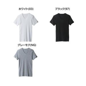 ★送料無料★グンゼ【BODYWILD】VネックTシャツ5枚セット 綿100% BWB415S