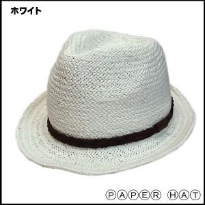 帽子 ハット ぼうし 中折れ 定番 つばワイヤー 麦わら ストローハット風 中折れハット ペーパー男女兼用・大人気に付き再々入荷