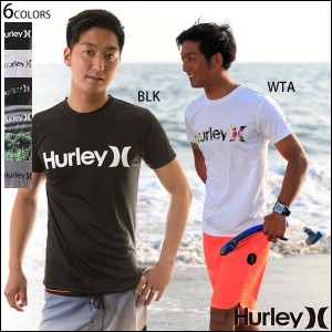 Hurley ハーレー ラッシュガード メンズ 半袖 プリント サーフTee UVカット ロゴ RASH TEE O&O UPF50 6色バリ