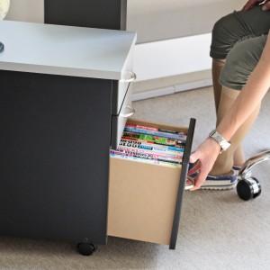 送料無料 120cm幅 パソコンデスク 2点セット シルバー&ブラック 木製 日本製 JS110SBT