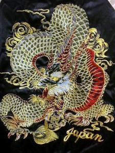 スカジャン 日本製本格刺繍 2L  新龍 サテン