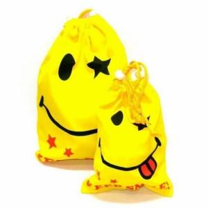 【送料無料】スマイリー巾着袋 バッグ【メール便:送料無料】【代引き可:送料別】メンズ レディース